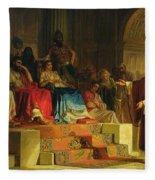 Trial Of The Apostle Paul Fleece Blanket