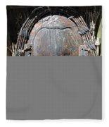 Tribal Mask Fleece Blanket