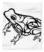 Tribal Ribbet  Fleece Blanket