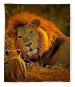 Tribute To Cecil Fleece Blanket