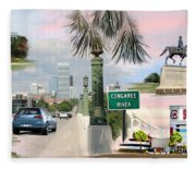Tribute To Columbia Sc Fleece Blanket