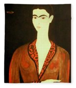 Tribute To Frida Fleece Blanket