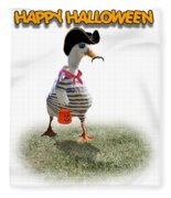 Trick Or Treat For Cap'n Duck Fleece Blanket