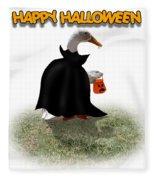 Trick Or Treat For Count Duckula Fleece Blanket