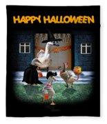 Trick Or Treat Time For Little Ducks Fleece Blanket