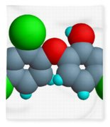Triclosan Molecule Fleece Blanket