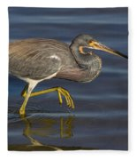 Tricolored Heron 1 Fleece Blanket