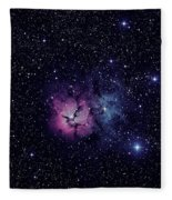 Trifid Nebula M20 Fleece Blanket