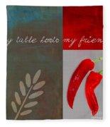 Trilioli Kitchen Decor - Red 153z Fleece Blanket
