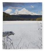 Lone Wolf Fleece Blanket