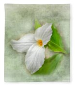 Trillium Wildflower  Fleece Blanket
