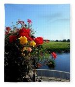 Trim Florals Fleece Blanket