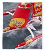 Trimaran Fleece Blanket