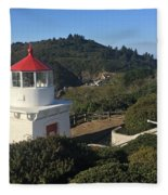 Trinidad Head Memorial Lighthouse, California Lighthouse Fleece Blanket