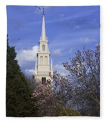 Trinity Church In Spring Fleece Blanket