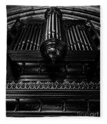 Trinity Church Pipe Organ Fleece Blanket
