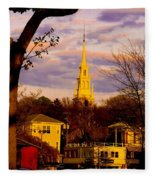 Trinity Church Spring Sunset Fleece Blanket