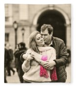 Trinity College Kiss Fleece Blanket
