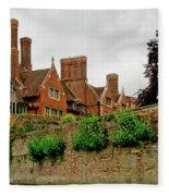 Trinity Hall From The Backs. Cambridge. Fleece Blanket
