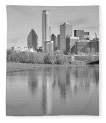 Trinity River Panorama Fleece Blanket