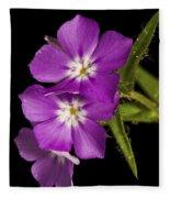 Trio In Purple Fleece Blanket
