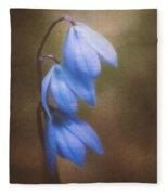 Trio Of Spring Flowers Fleece Blanket