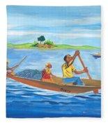 Trip To Lake Kivu In Congo Fleece Blanket