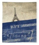 Trip To Paris Square Pillow Size Fleece Blanket