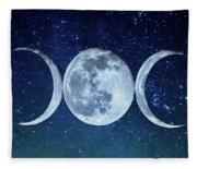 Triple Moon Milkyway Fleece Blanket