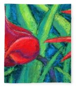 Triple Tease Tulips Fleece Blanket