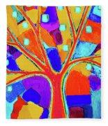 Trippy Tree Fleece Blanket