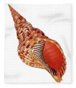 Triton Shell On White Vertical Fleece Blanket
