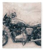 Triumph Bonneville - Standard Motorcycle - 1959 - Motorcycle Poster - Automotive Art Fleece Blanket