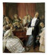 Triumph Of A Tenor At A Musical Matinee Fleece Blanket