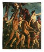 Triumph Of Bacchus 1514 Fleece Blanket