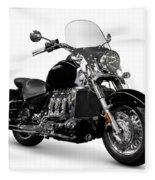 Triumph Rocket IIi Motorcycle Fleece Blanket