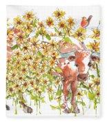 Trivia Too A Texas Longhorn Sunflowers Lh072 Fleece Blanket