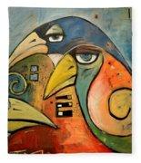 Trois Oiseaux Fleece Blanket