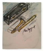 Trombone Fleece Blanket