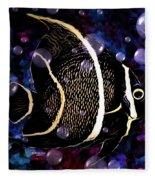 Tropical Angel Fish Fleece Blanket