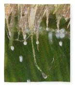 Tropical Bali Rain Fleece Blanket