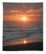 Tropical Bali Sunset Fleece Blanket