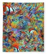 Tropical Beach Art - Under The Sea - Sharon Cummings Fleece Blanket