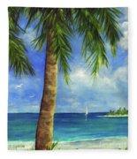 Tropical Beach One Fleece Blanket