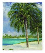 Tropical Beach Two Fleece Blanket