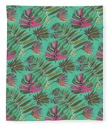Tropical Beauty Fleece Blanket