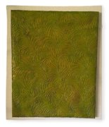 Tropical Palms Canvas Green - 16x20 Hand Painted Fleece Blanket