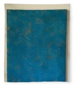Tropical Palms Canvas Teal Blue - 16x20 Hand Painted Fleece Blanket