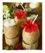 Tropical Cocktail Fleece Blanket