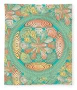 Tropical Color Abstract Fleece Blanket